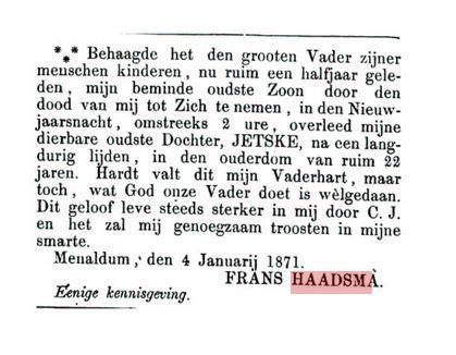 HAADSMA JETSKE F.+