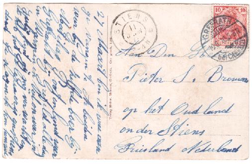 HAADSMA TANE R. JR KAART 11-1-1910