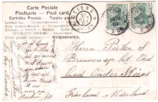 HAADSMA TANE R. JR KAART 29-10-1907