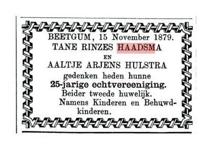 HAADSMA TR 25JIER