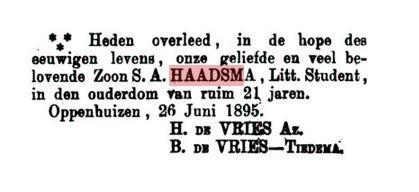 HAADSMA SA++++