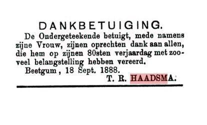 HAADSMA TR 80JIER