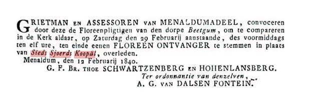 KOOPAL SIEDS SJOERDS 1840