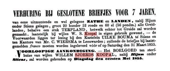 KOOPAL WILLEM SJOERDS