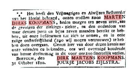 KOOPMANS DIRK MARTENS ROUADV