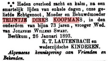 KOOPMANS TRIJNTJE DIRKS+