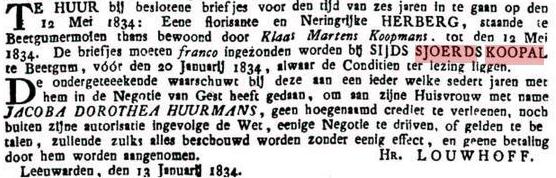 koopalsydssjoerd1834