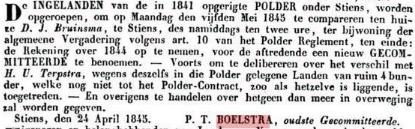BOELSTRA POLDER 1845