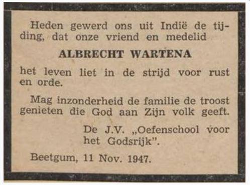 Albrecht Wartena rouadv. Ger. Jongelingsblad