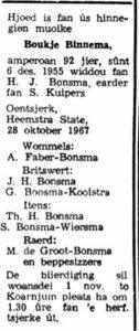 Baukje Binnema rouadv 1967