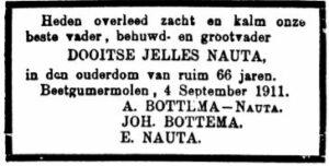 Dooitse Jelles Nauta - rouadvertinsje