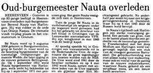 Berend Nauta Azn In Memoriam LC 1988