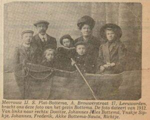 Johannes Jelles Bottema, Akke Dooitzes Nauta en bern