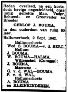 Gerlof Jacobs Bouma rouadvertinsje